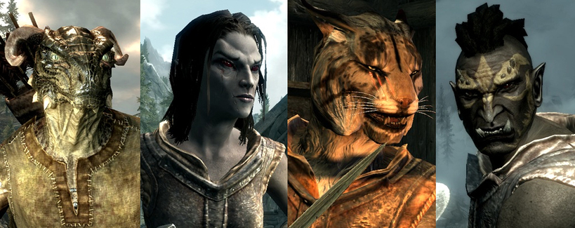 how to change your race in skyrim xbox one